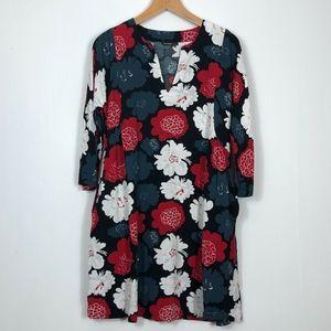 Merimekko Size 36 Small Split Neck Tunic Dress